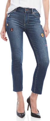 Paige Jacqueline Patch Straight Leg Jeans