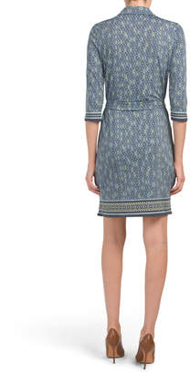 Max Studio Belted Printed Jersey Dress