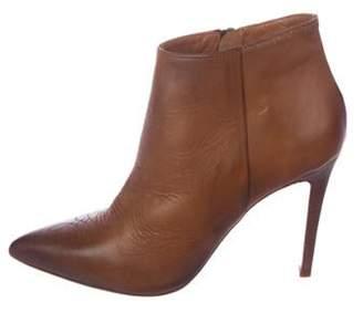 Barneys New York Barney's New York Leather Pointed-Toe Ankle Boots Brown Barney's New York Leather Pointed-Toe Ankle Boots