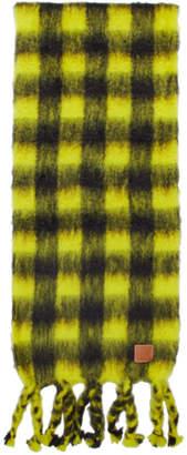 Loewe Yellow Check Scarf