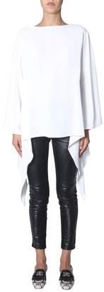 Alberta Ferretti Long-Sleeve Oversized Top