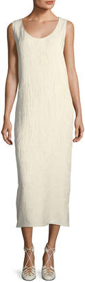 The Row Yellin Plisse Silk Midi Dress