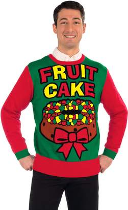 Forum Novelties Men's Fruit Cake Novelty Christmas Sweater