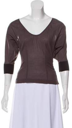 CNC Costume National Cold-Shoulder Scoop Neck Top w/ Tags
