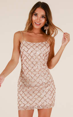 Showpo Rhythm Of Love dress in rose gold - 6 (XS) Going Out Outfits