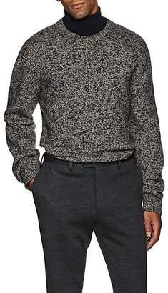 Brioni Men's Mélange Wool Chunky Sweater - Wht.&blk.