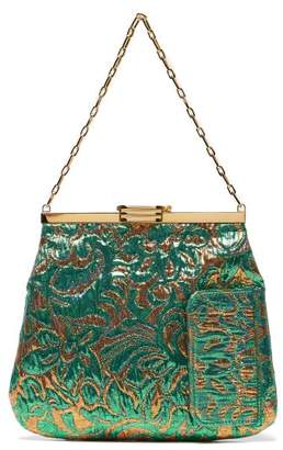 Bienen Davis Bienen-davis - 4am Floral Brocade Clutch - Womens - Green Multi