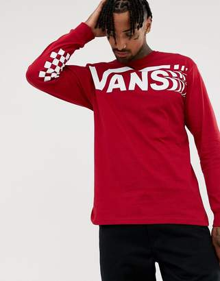 Vans long sleeve t-shirt with large logo in white VN0A3HWTCAR1