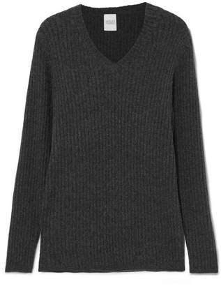 Madeleine Thompson Woman Thassos Ribbed Wool And Cashmere-blend Sweater Gray Size L Madeleine Thompson Cheap Sale Great Deals vwSPk