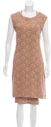 Raquel Allegra Eyelet Knee-Length Dress
