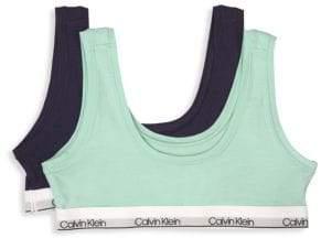 Calvin Klein Little Girl's& Girl's Two-Pack Crop Bras