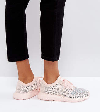 adidas Swift Run Primeknit Trainers In Pale Pink
