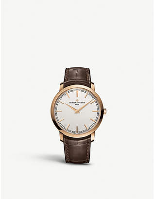 Vacheron Constantin 43075/000R-9737 Traditionnelle 18ct rose gold and alligator leather watch