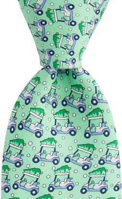 Vineyard Vines Boys Golf Cart & Tree Printed Tie
