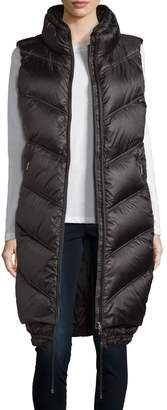 Bogner Long Down Puffer Vest, Black