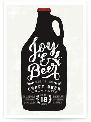 Joy And Beer Holiday Party Invitations