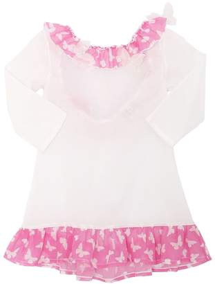 Ruffled Cotton Muslin Cover-Up