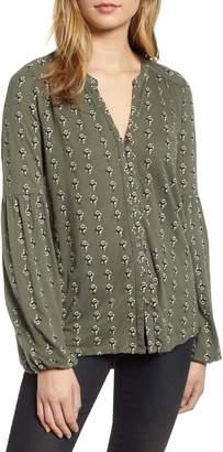 Lucky Brand Blouson Sleeve Top