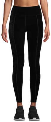 Alala Velvet Side-Stripe Ankle Leggings
