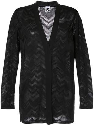 M Missoni zig-zag patterned cardigan