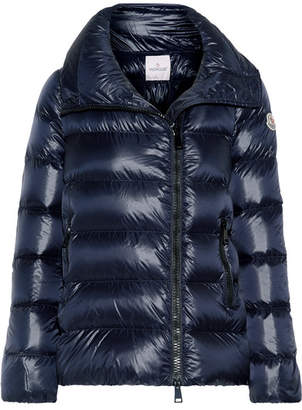Moncler - Salix Quilted Shell Down Jacket - Navy $995 thestylecure.com