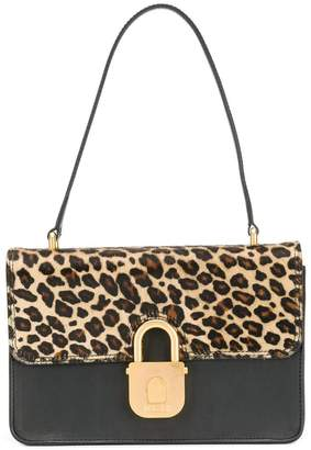 Just Cavalli padlock buckle shoulder bag
