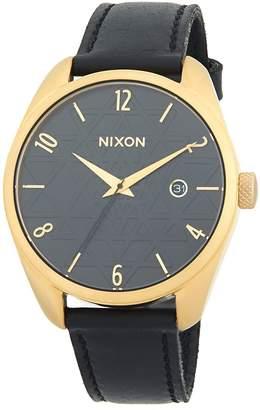Nixon Women's Bullet Leather Stainless Steel Quartz Strap Watch