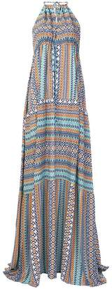 Fisico patterned halterneck dress