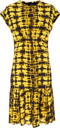 Proenza Schouler Short-Sleeve Printed Jersey Dress