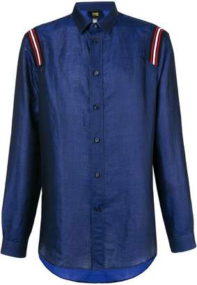Class Roberto Cavalli tape detail button-down shirt