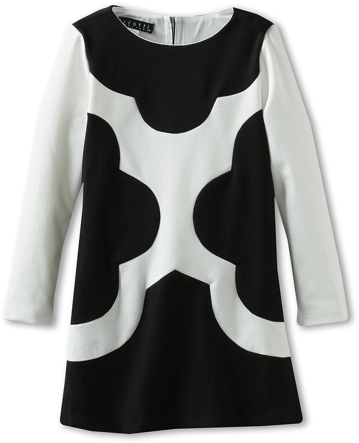 Biscotti Mod Squad Long Sleeve Dress (Black/Ivory) - Apparel