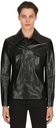 Maison Margiela Replica 70s Style Leather Jacket