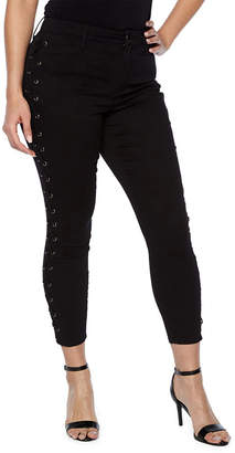 Bold Elements Side Lace Up Crop Jeans