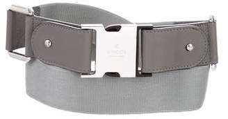 Gucci Leather-Trimmed Push-Lock Belt