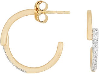 Adina Pave Crossover Hoops