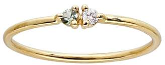 WWAKE Botany Double Tourmaline and Diamond Ring
