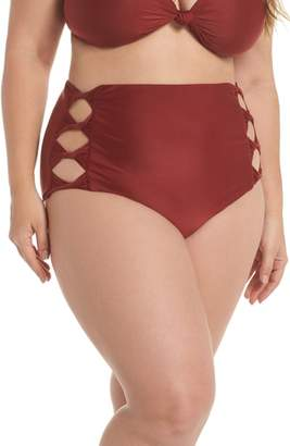 BCA Love Letters High Waist Bikini Bottoms