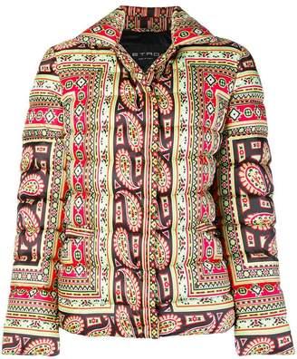 Etro printed padded jacket