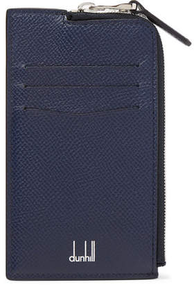Dunhill Cadogan Full-Grain Leather Zip-Around Cardholder - Men - Navy