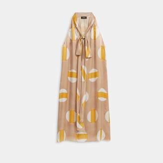Glass Silk Halter Scarf Dress