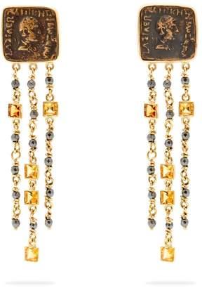 Francesca Villa 18kt gold and antique coin earrings