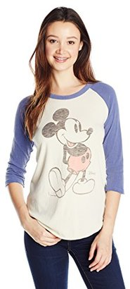 Junk Food Junior's 3/4 Sleeve Mickey Mouse Raglan Graphic Tee $52 thestylecure.com
