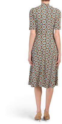 Donna Morgan Geo Printed Jersey Midi Dress