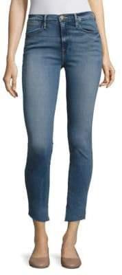 Peserico Le High Asymmetrical Step Hem Skinny Jeans