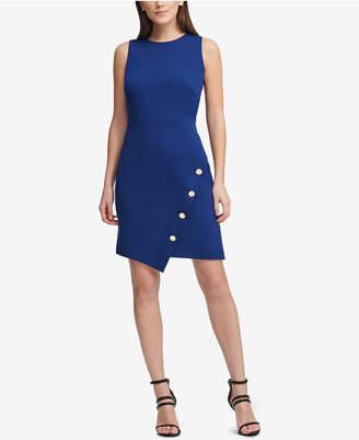 DKNY Embellished Asymmetrical Sheath Dress, Created for Macy's