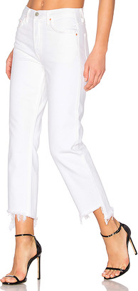 GRLFRND Helena High-Rise Straight Crop Jean.