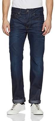 G Star G-Star Men's 3301 Straight Fit Jeans - Blue (Indigo Aged 4639), 34W x 36L
