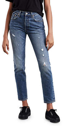 Levi's 501 Before Dawn Distressed Straight Jeans