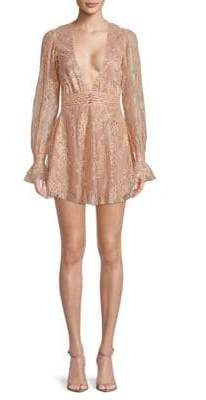 For Love & Lemons Modern Lace Mini Dress