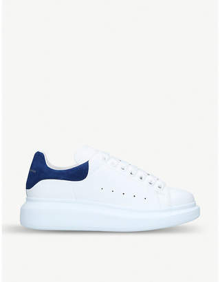Alexander McQueen Show leather platform trainers